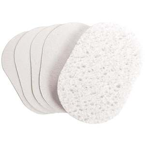 Oval Compressed Sponge White 24 Pack