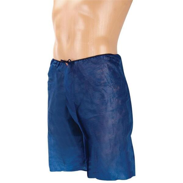 Canyon Rose Disposable Men's Boxer One Size Fits Most Navy Blue 10 Pack