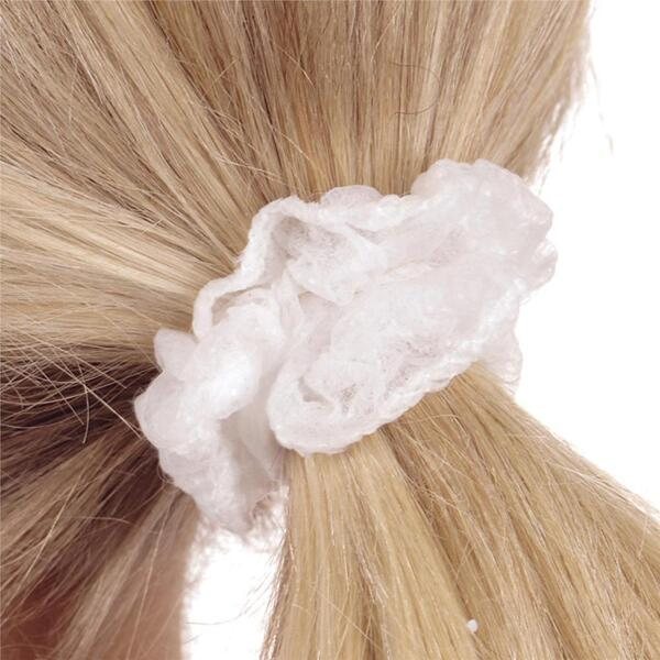 Canyon Rose Disposable Hair Scrunches White 100 Pack