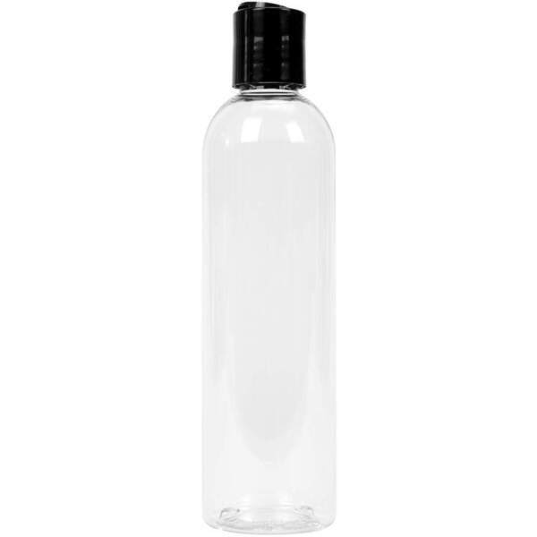 8 oz. Bottle with Black Cap