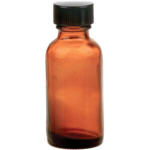 Amber Bottle & Lid 1 oz.