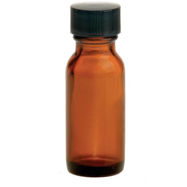 Amber Bottle & Lid 12 oz.