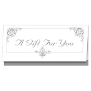 Silver Ornate Gift Certificate 25 Pack