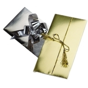 Gift Certificate Folder Gold 25 Pack
