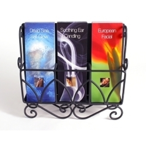 Spiral Literature Holder Black