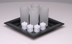 LED Candles with Glass Holders/4 Pack (C244T)