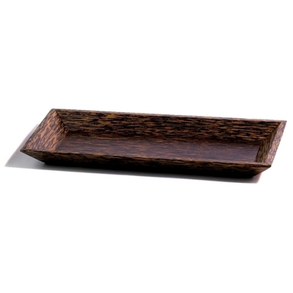 "Rectangle Palm Wood Plate / 9"" X 4.5"" (C8014)"