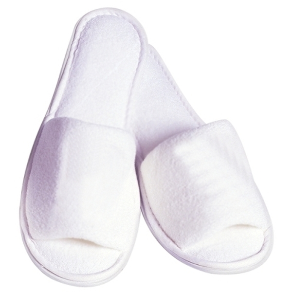 Ladies' Terry Spa Slippers / White (C898T)