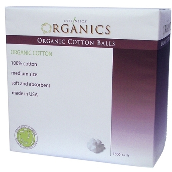 Intrinsics® Organic Medium Cotton Balls / 1,500 Count (CX079T)