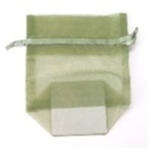 Small Organza Bag / Olive (CZ364)
