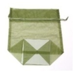 Large Organza Bag / Olive (CZ365)