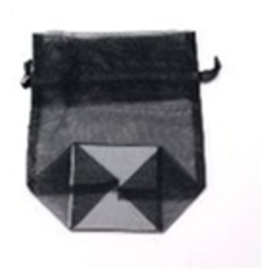 Small Organza Bag / Black (CZ370)