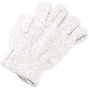 Exfoliating Massage Gloves / White (C1309T)