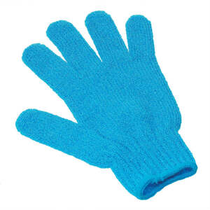 Exfoliating Massage Gloves / Blue (C1310)