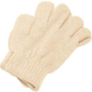 Exfoliating Massage Gloves / Beige (C1322)