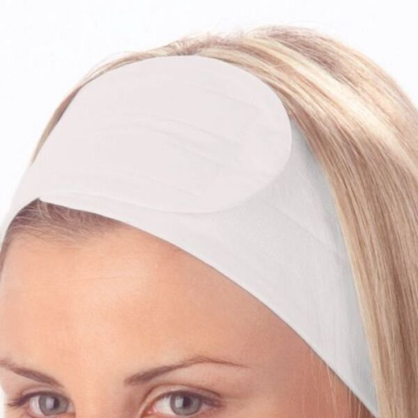 Microfiber Headband / White / 3 pack (C673W)