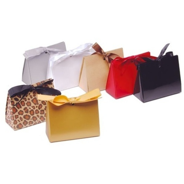 Purse Style Gift Certificate Holder with Ribbon / Leopard (CZ659)
