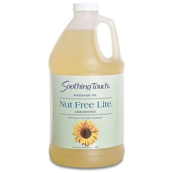 Soothing Touch Nut-Free Lite Unscented Massage Oil / 1/2 Gallon (ST253)