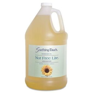 Soothing Touch Nut-Free Lite Unscented Massage Oil / 1 Gallon (ST254)