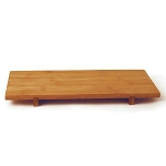 Bamboo Rectangular Footed Tray (360132)