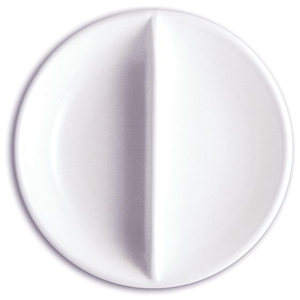 "4.75"" Porcelain Divided Dish (360212)"
