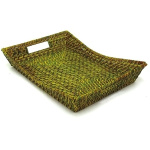 Rattan Flare Tray - Green Tea (360701)