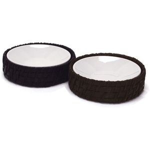 Maui Round Soap Dish with Insert - Black (369001)