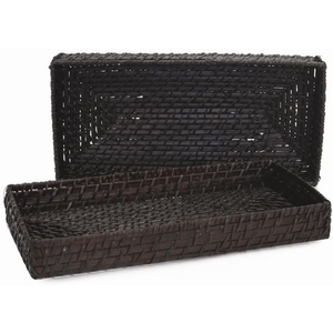 Maui Small Rectangular Tray - Chocolate (369105)