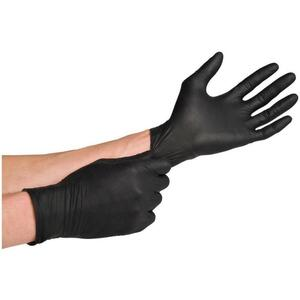 Black Nitrile Gloves - Powder-Free Large 100 Pack (46638)