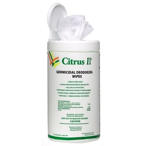 Citrus II® Germicidal Wipes 125 Count (C188T)