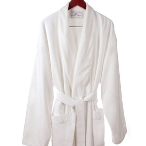 Microfiber Roll Collar Robe White 2XL (C4582)