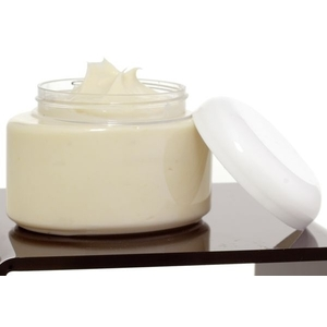8 oz Clear Oval Jar with White Lid (C8027T)