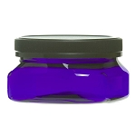 4oz Square Blue Designer Jar with Lid (C8030T)