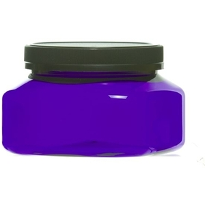 8oz Square Blue Designer Jar with Lid (C8031T)