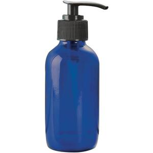 Cobalt Blue Glass Bottle with Pump 4 oz. (C8039T)