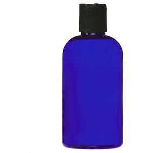 Cobalt Blue PET Bottle with Disc Cap 8 oz. (C8048T)