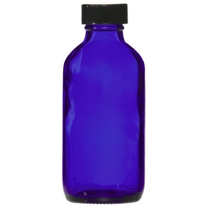 Cobalt Blue Glass Bottle with Lid 4 oz. (C8055T)