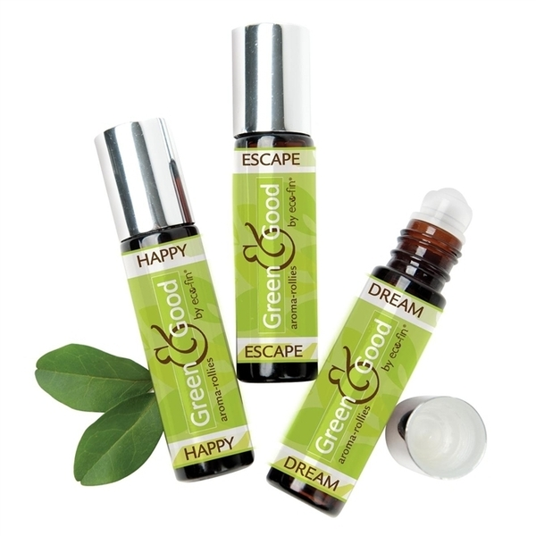"Green & Good - ""Aroma-Rollies"" Essence Roller by Eco-Fin Happy .33 Oz"