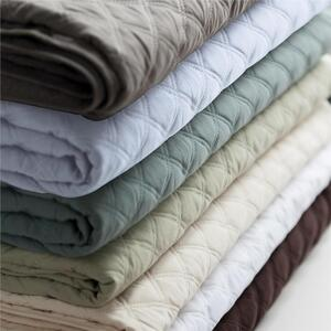 "Sposh Microfiber Quilted Blanket 58""W X 85""L - Available in Cream White Coffee Tea Leaf Blue Agate, Moonstone & Spa Blue"