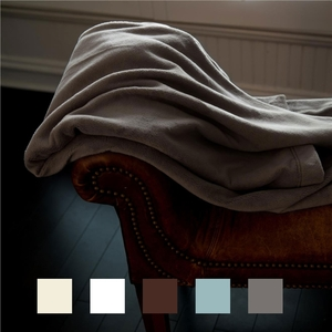"Sposh Chelour Throw 300 Gram Chinlon-Polyester Blend 58"" X 60"" - Available in White Cream Agate Blue. Coffee Moonstone Gray Spa Retail Item!"