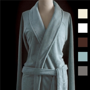 Sposh Chelour Robe One Size - Available in Agate Blue. Coffee Moonstone Gray Spa Retail Item!