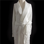 Sposh Microfiber Twill Robe with Pockets One Size - Available in White or Cream