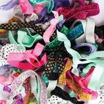 Dye-Ties Print Hair Ties - Assorted 25 Hair Ties