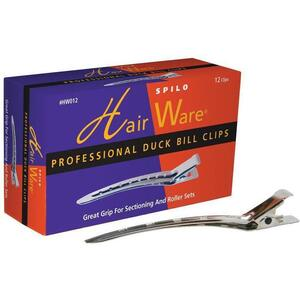 Hair Ware Professional Duck Bill Clips 12 pack