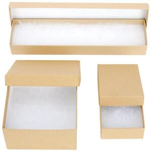 "Kraft Jewelry Box - 3.12""L x 2.12""W x 1.68""H"
