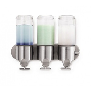 Triple Wall Mount Stainless Steel Pump Dispenser