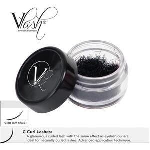 Vlash C Curl Lashes .20 Thick Choose from 8 mm - 17 mm Long