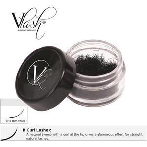 Vlash B Curl Lashes .15 Thick Choose from 8 mm - 15 mm Long