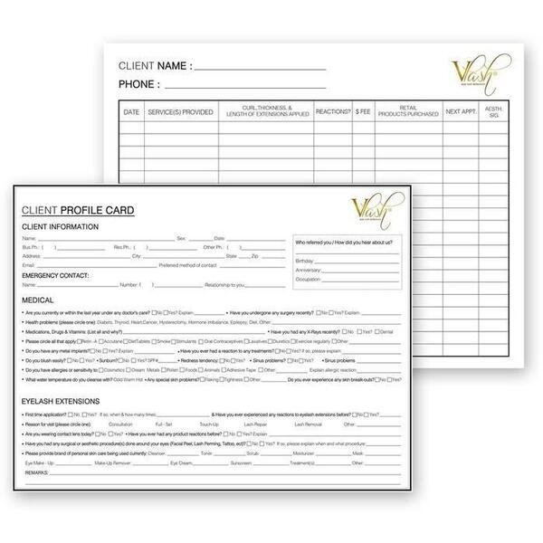 Vlash Client Profile Cards 50 Pack