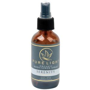 Pure Light Organic Body Spray + Room Spray + Linen Spray - Serenity 3.4 oz.